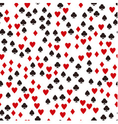 Card suit pattern seamless game background vector