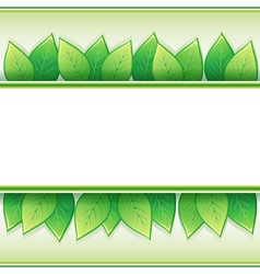 Eco background with leaves vector image
