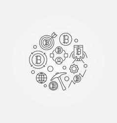 minimal cryptocurrency symbol vector image