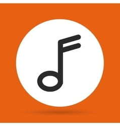 Music note icon music and sound design vector