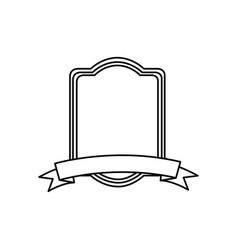 Silhouette rectangle heraldic border design vector