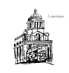 hand drawn of london set vector image