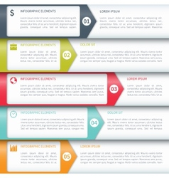 Modern minimalistic infographics options template vector