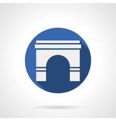 Wall archway blue round icon vector image