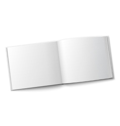 Blank spread album template vector image