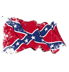 Confederate Rebel flag Grunge vector image vector image