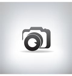 stylized photo camera vector image vector image