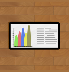 tablet with color info chart vector image vector image