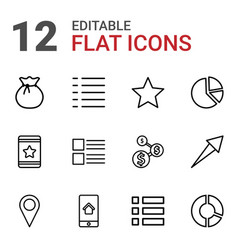 12 ui icons vector