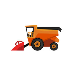 agricultural harvester combine farm machinery vector image
