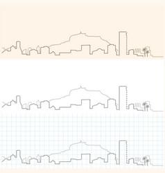 alicante hand drawn skyline vector image