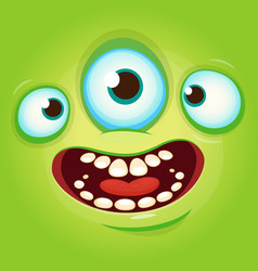 Alien face cartoon avatar vector