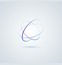 atom logo design vector image