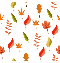 autumn pattern leaves vector image