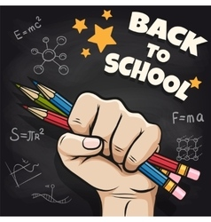 Back to school sketch on blackboard vector image