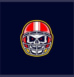 baseball skull head vector image