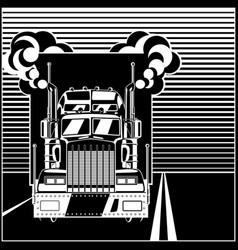 big truck on highway vector image