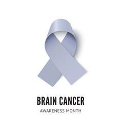 brain cancer awareness ribbon vector image