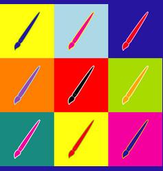 brush sign pop-art style vector image