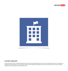 building icon - blue photo frame vector image
