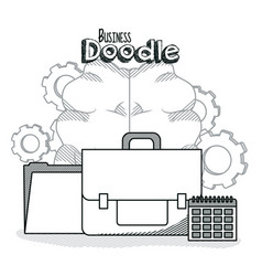 business doodle concept vector image