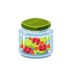 Candy In Transparent Jar vector