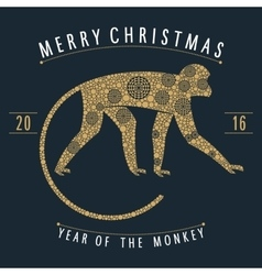 Christmas mechanical monkey vector