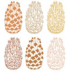 colored cone hand drawn seamless pattern vector image