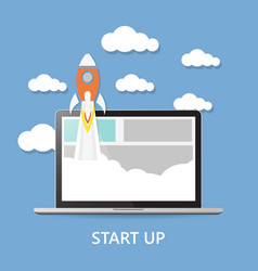 Concept project start up - launch vector