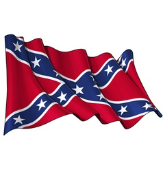 Confederate Rebel flag vector image