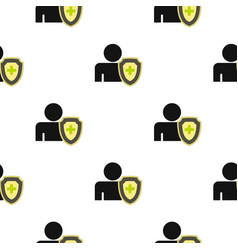 Cross protection pattern flat vector