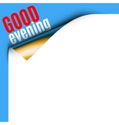 Curled White Paper Corner vector