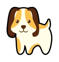 cute puppy little pet domestic vector image