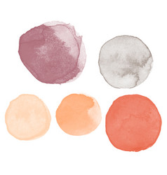 Different colors watercolor paint stains vector