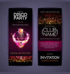 disco corporate identity templates cocktail vector image