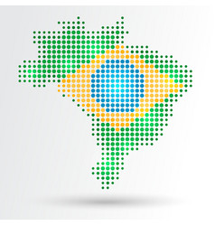 Dotted Brazil map vector