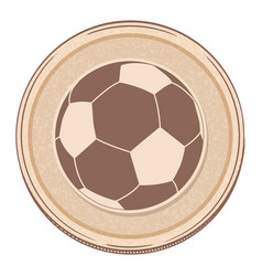 Drawing style soccer football border vector