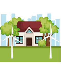 Eco friendly house design vector