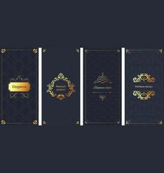 elegant invitation decorative damask ornament vector image