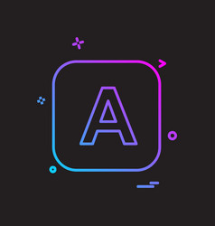 english alphabets icon design vector image