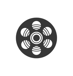 Film reel movie cinema icon graphic vector
