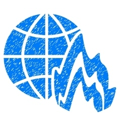 Global Fire Grainy Texture Icon vector