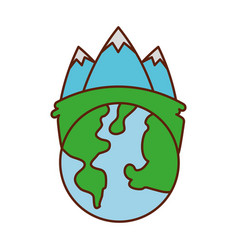 globe world ecology energy environment power vector image