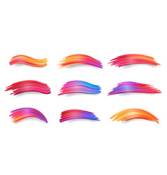 gradient smears or colorful brushstrokes paint vector image