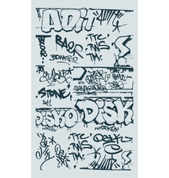 Graffiti design elements vector