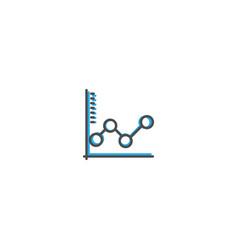 graph icon line design business icon vector image