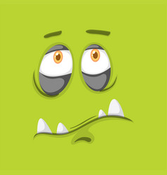 Green monster facial expression vector