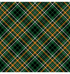 green tartan celtic fc seamless pattern diagonal vector image
