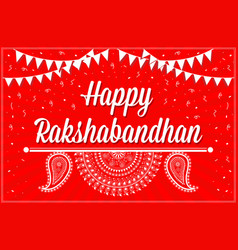 greeting card on occasion rakhi festival vector image