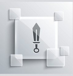 Grey sword toy icon isolated on background vector